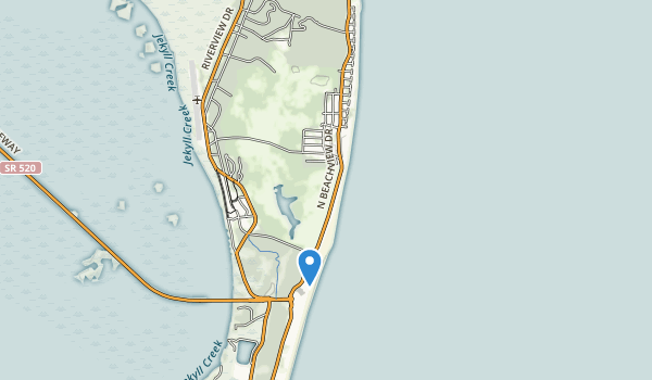 trail locations for Jekyll Island