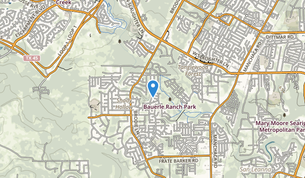 trail locations for Bauerle Ranch Park