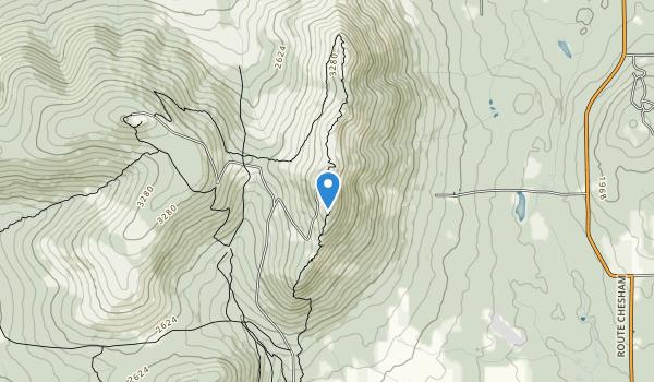 trail locations for Parc national du Mont-Mégantic