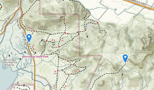 Cerro Cabrillo Trails, nr Morro Bay Map