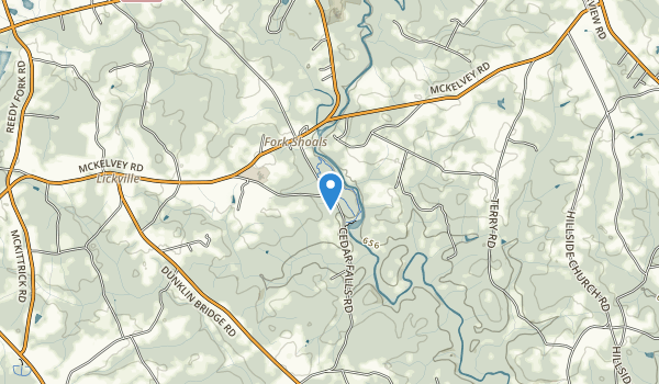 trail locations for Cedar Falls Park