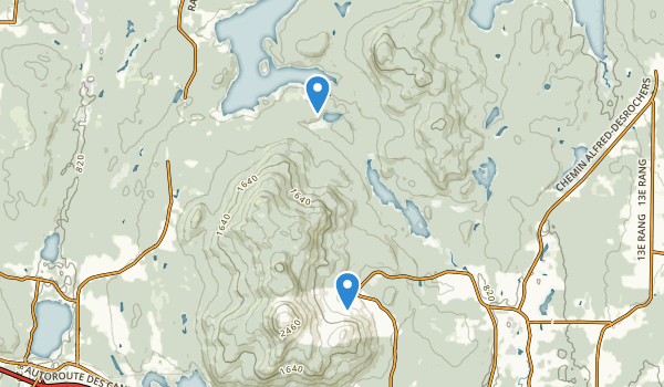 trail locations for Parc national du Mont-Orford