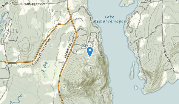 trail locations for Owl's head Mansonville