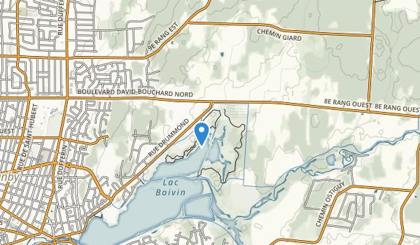 trail locations for Centre d'interprétation de la nature du lac Boivin