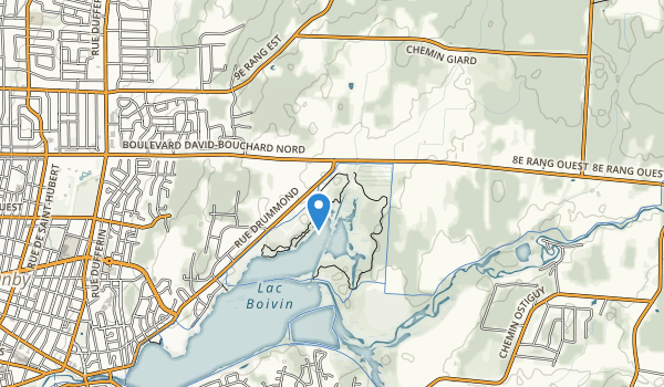 trail locations for Centre d'interprétation de la nature du lac Boivin