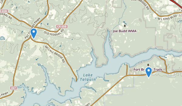 trail locations for Lake Talquin State Forest