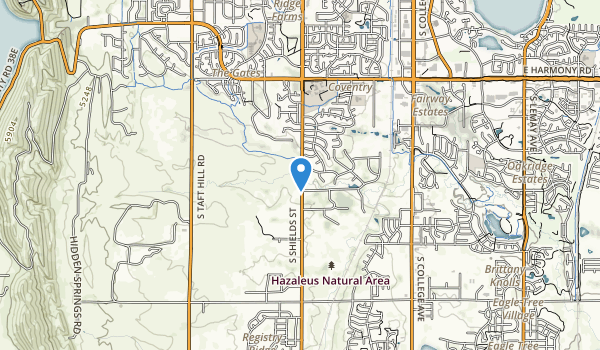 Cathy Fromme Prairie Natural Area Map