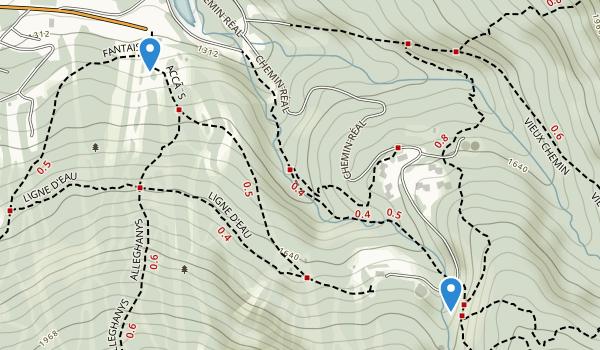 trail locations for Parc d'environnement naturel de Sutton