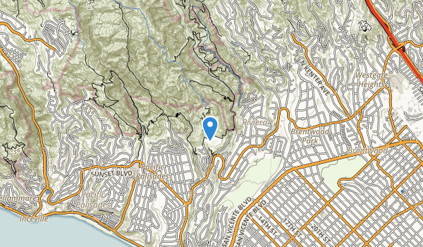 Will Rogers & Topanga State Parks Map