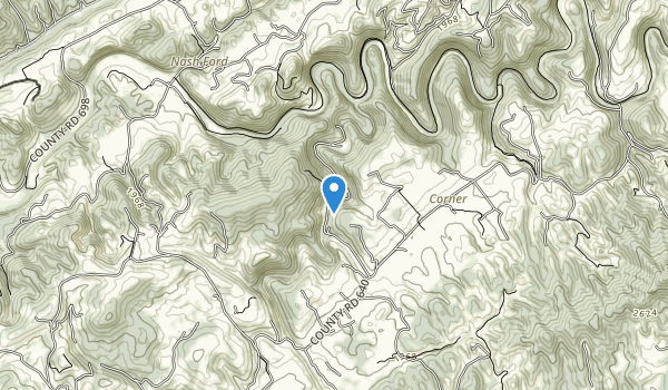 trail locations for Russell County, VA