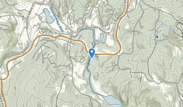 trail locations for Quechee, VT