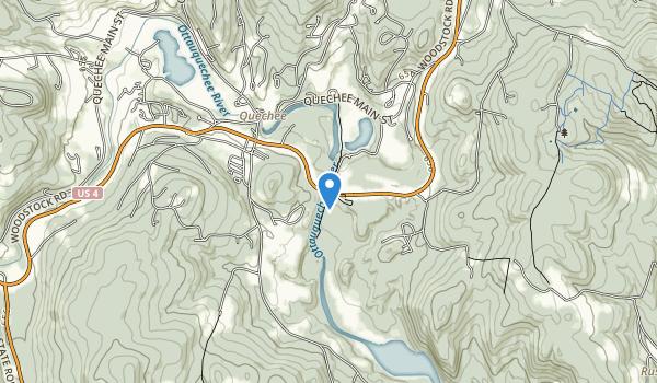 Quechee, VT Map