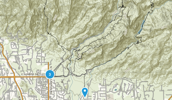 Sabino Canyon Map