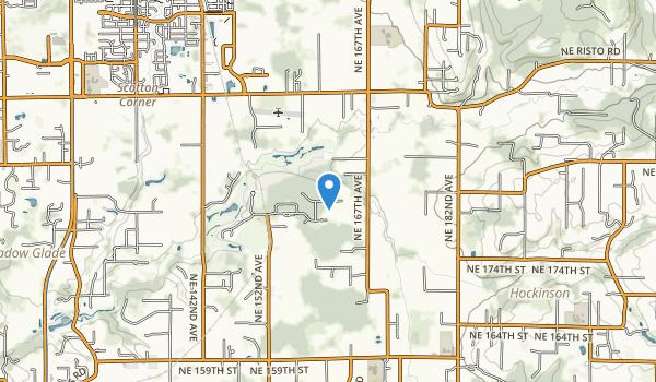 trail locations for Salmon-Morgan Creek Natural Area