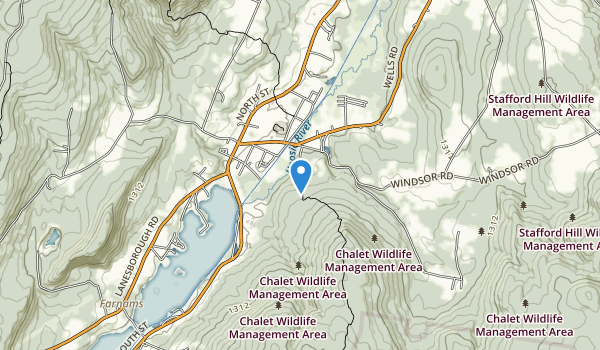 trail locations for Chalet Wildlife Management Area
