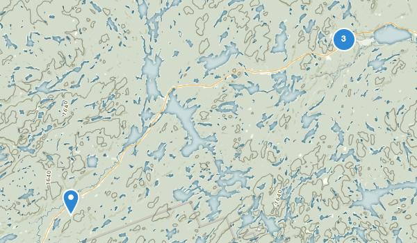 trail locations for Algonquin Provincial Park