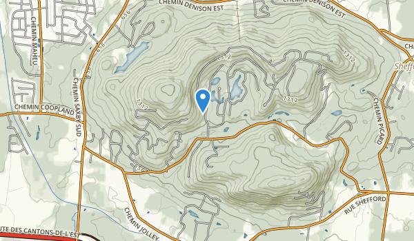 trail locations for parc des montagnards