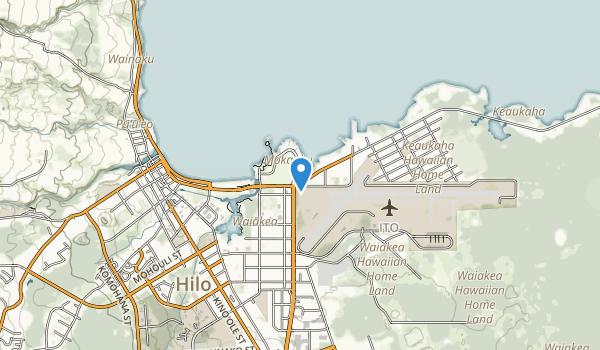 trail locations for Liliuokalani Garden