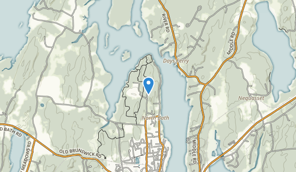 trail locations for Thorne Head Preserve