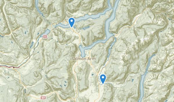 trail locations for Shuswap Lake Provincial Park