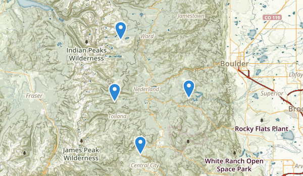 trail locations for Roosevelt National Forest