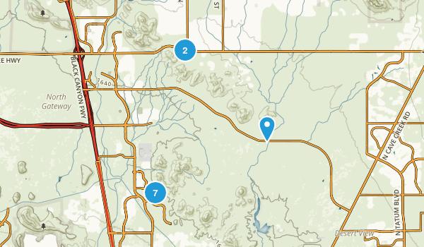 Phoenix Sonoran Desert Preserve Map