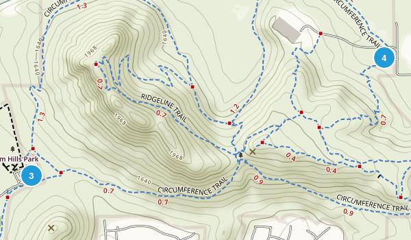 Deem Hills Recreation Area Map
