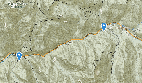 trail locations for Big Cottonwood Canyon