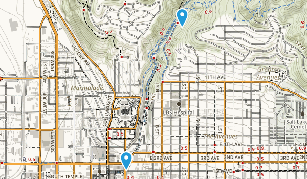 City Creek Park Map