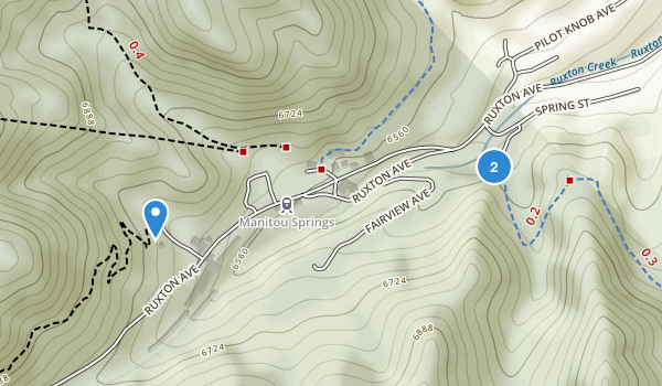 Manitou Springs Open Space Map