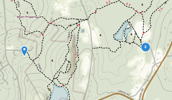 trail locations for Vaughn Hills Conservation Area