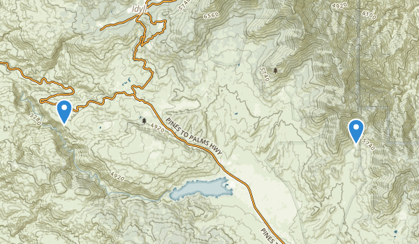 trail locations for San Bernardino National Forest