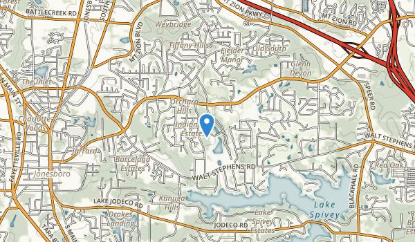 Clayton Co International Park, Jonesboro GA Map