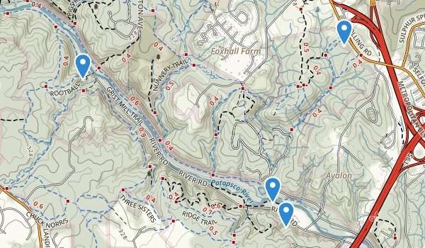 trail locations for Patapsco Valley State Park
