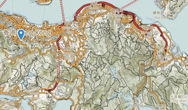 trail locations for Shek-O county park