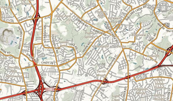 Ribbonwalk Urban Forest Map