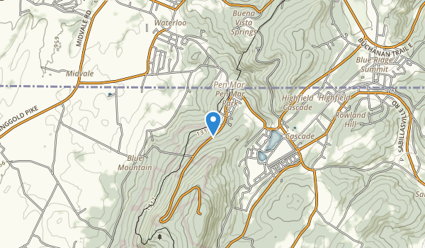 trail locations for Michaux State Forest - Pennsylvania