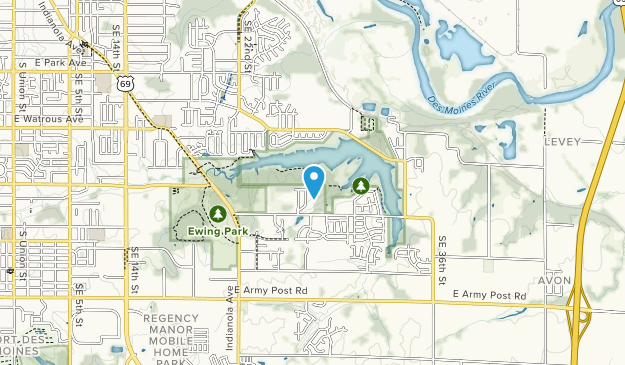Map Of Trails Near Easter Lake Park Iowa Alltrails - Easter-us-map