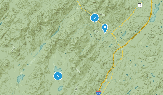 Dix Mountain Wilderness Map