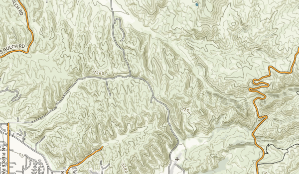 trail locations for Polecat Gulch Reserve