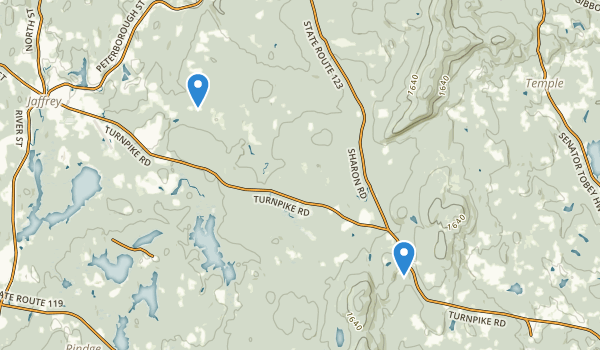 trail locations for Wales Preserve