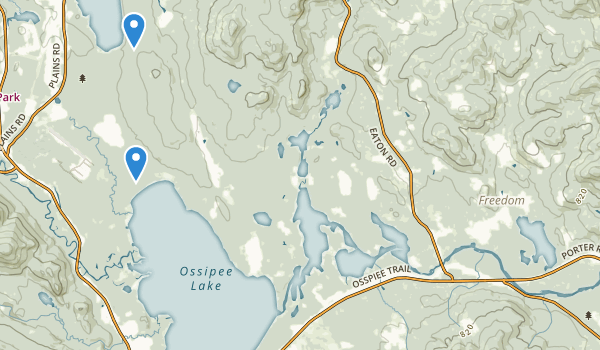 trail locations for Ossipee Pine Barrens