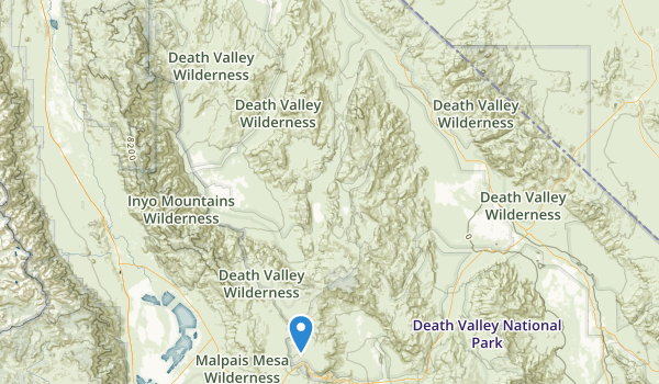 trail locations for Death Valley National Monument