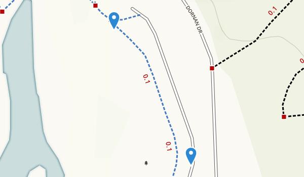 trail locations for Miller/Knox Regional Shoreline