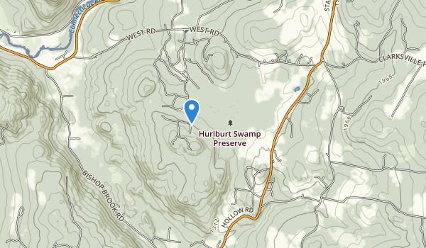 trail locations for Hurlbert Swamp Preserve