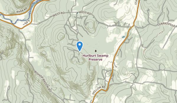 Hurlbert Swamp Preserve Map