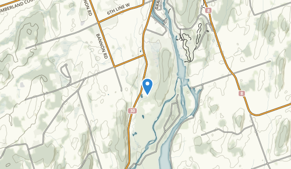 trail locations for Seymour Conservation Area