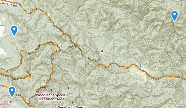 Jackson Demonstration State Forest  Map