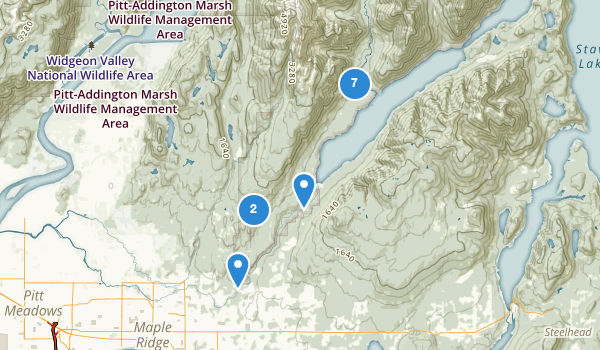 trail locations for Golden Ears Provincial Park
