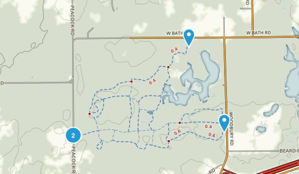 Rose Lake Wildlife Research Area Map